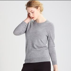 J. Crew Tippi merino sweater heather smoke medium